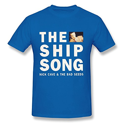 Price comparison product image Tea Time Men's Tees Nick Cave The Bad Seeds RoyalBlue Size XL
