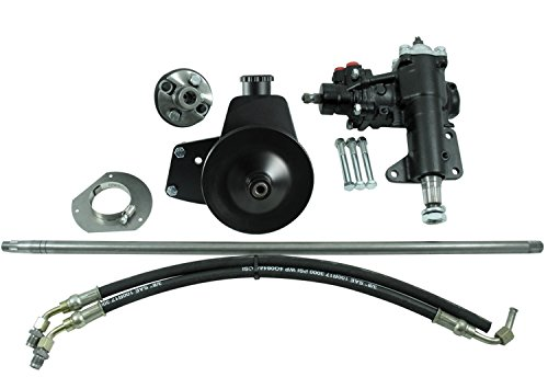 Mustang Chrome Power Steering - Borgeson 999020 Power Steering Conversion Kit