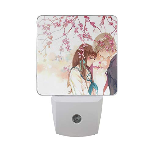 OuLian Night Light Love Girl and Boy Led Light Lamp for Hallway, Kitchen, Bathroom, Bedroom, Stairs, DaylightWhite, Bedroom, Compact