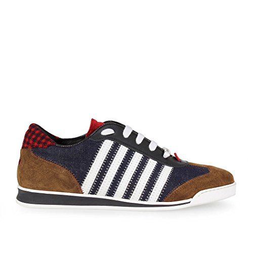 Baskets Pour Homme New Runner Bleu Blanc Dsquared2