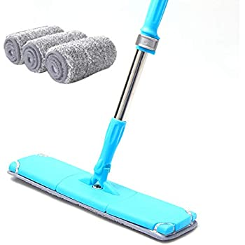 Amazon Com Microfiber Floor Flat Mop Cleaner Hands Free