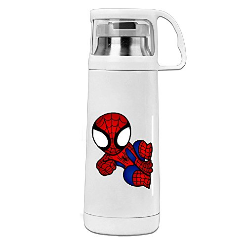 HAULKOO Ultimate Spider-Man Stainless Steel Cup Cover Convenient Portable Students Creative Play Lovers Cup