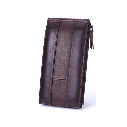 2way Lungo Di Tipo In Black Red color Uomo Pochette A Portafoglio Sottile Carte Riporre Comodo Pelle Da Brown Porta Lindanig t4OIq6x