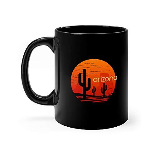 (Landsape Of Arizona State And Apparel Print Emblem Funny Mug 11 Oz Ceramic)