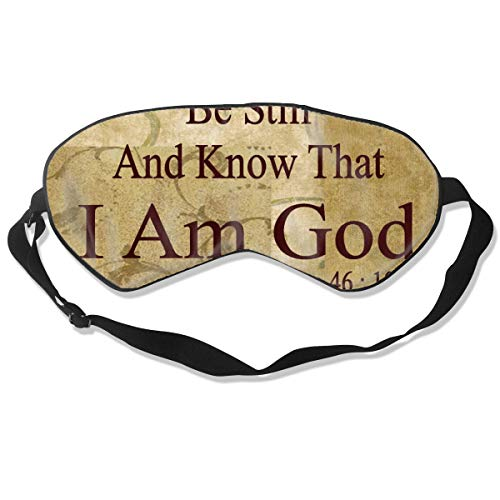 BRERUYJK Be Still and Know That I Am God Men & Women Sleep Mask Comfortable Soft Blindfold Eye Mask Cover with Elastic Adjustable Strap for Night Sleeping Travel Nap Girls Boys Kids
