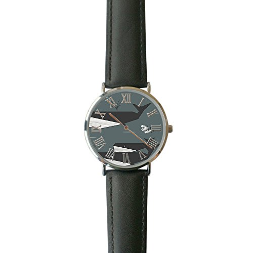 SINGDADFF Women's Geo Whales Casual Watch Fashion Leather Analog Wrist Watches ()