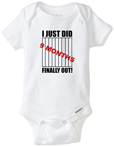 I Just Did 9 Months Finally Out Funny Baby Onesie Blakenreag Baby Boy Girl Clothes (Cheap Funny Onesies)