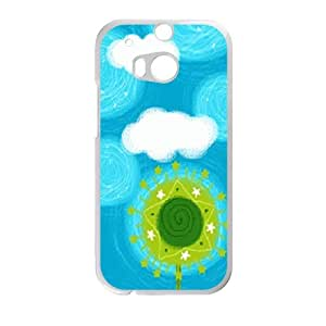 cute star tree blue personalized high quality cell phone case for HTC M8 by Maris's Diaryby Maris's Diary