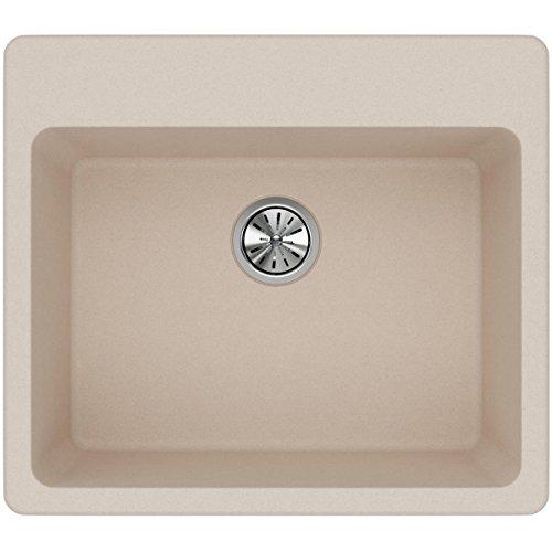 Elkay Quartz Classic ELG2522PT0 Putty Single Bowl Top Mount Sink (Putty Top)