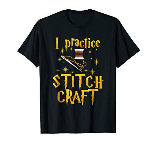 Halloween Cross Stitch Patterns Online (I Practice Stitch Craft Cross Stitch T-Shirt Funny)