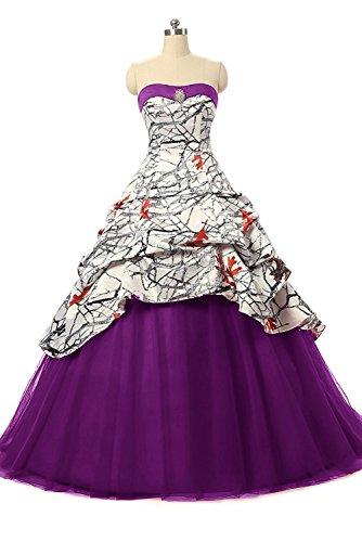 formal camouflage wedding dresses - 1