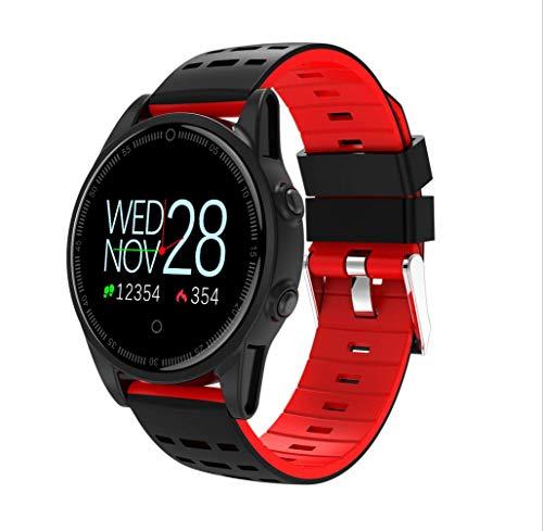 LJXAN Fitness Activity Tracker GPS Waterproof Bracelet Smart Watch Heart Rate One Step Sleep Heart Rate Blood Pressure Monitor,Red by LJXAN