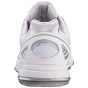 RYKA Women's Devotion Plus Walking Shoe, White/Chrome Silver/Frosted Almond, 7.5 M US