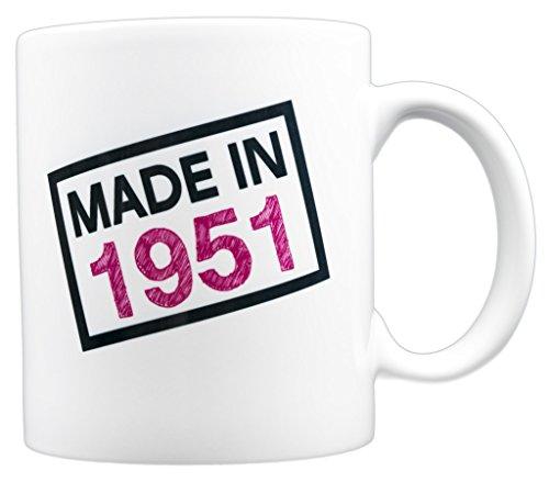 EverMug Made in 1951 - 66th Birthday Gift Mug - 11 oz. White Coffee Mug