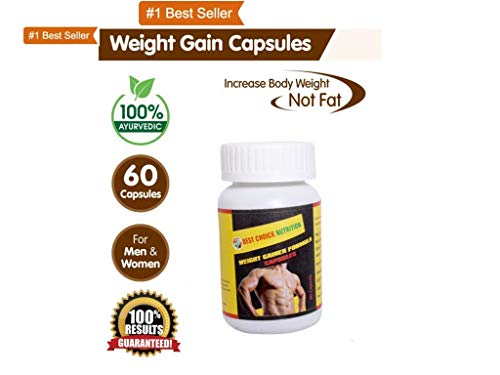 Weight Gainer 100% Pure Herbal Weight Gain-60 Capsules (Best Weight Gainer In India)