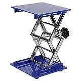 200×200×280mm Aluminum Oxide Lab Jack, Scientific Lab Lifting Platform Stand Rack Scissor Jack Lift with Adjustable Height