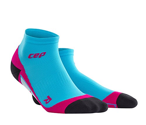CEP Women's Dynamic+ Low Cut Socks with Compression and Light, Breathable Fit for Cross-Training, Running, Recovery, Tiathletes, and all Endurance and Team Sports, Hawaii Blue/Pink, 2 (Cross Training Womens Socks)