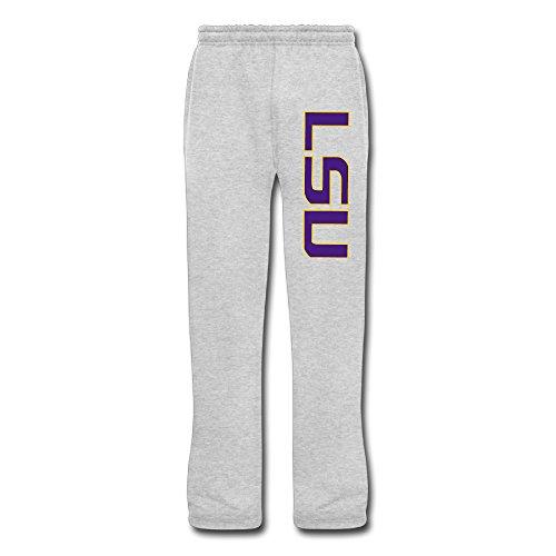 DHome Men's Workout Pants Louisiana State LSU Ash 3X (Lsu Zombie)