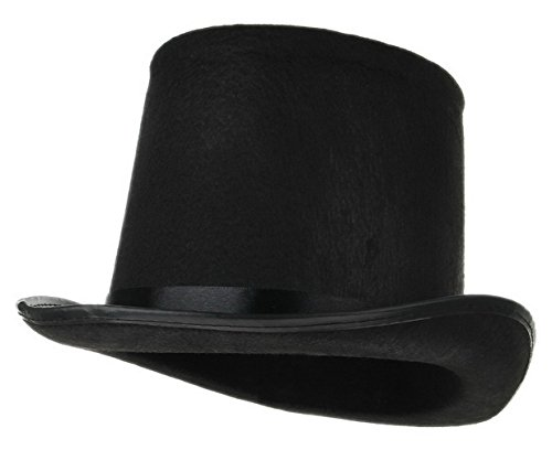 [Gemvie Men Women Black Top Hat Magician Magic Hats Dress Up Party Accessory] (Black Magic Woman Costume)
