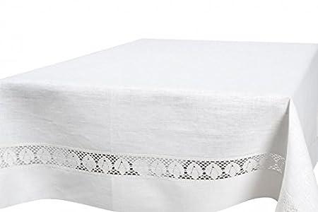 1450ccf4e9ce Image Unavailable. Image not available for. Colour  Linen Fashion  WHITE  PURE LINEN TABLECLOTH ...