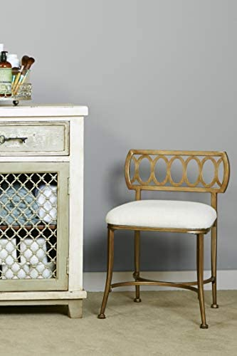 home, kitchen, furniture, bedroom furniture,  vanities, vanity benches 10 image Hillsdale Furniture Canal Street Stool, Gold Bronze deals