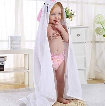White Hpybest Kids Bath Towel Children Cartoon Towel Toddler Cotton Bathrobe Baby Boys Girls Spring Animal Hooded