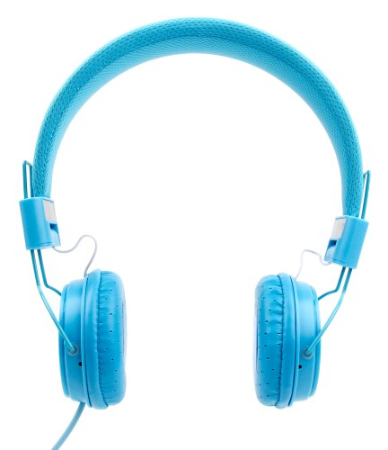 DURAGADGET Blue Ultra-Stylish Kids Fashion Headphones Compatible with The Grundig 1445