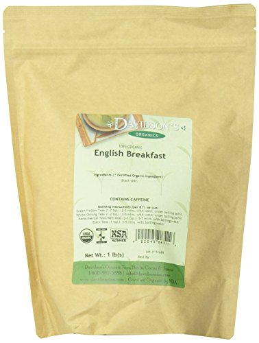 Organic Breakfast Tea (Davidson's Tea Bulk, English Breakfast, 16-Ounce Bag)
