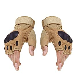 Ek Udaan Tactical Fingerless Cycling Gloves Non-slip Half Finger Hands Protector Army Military Bicycle Motocross Combat…