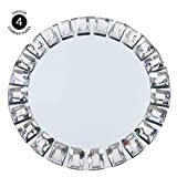 Koyal Wholesale Mirror Charger Plates, Bulk Set