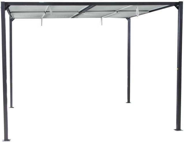 Siena Garden - Techo Solar Cabrio 3 x 3 m, Estructura de Antracita ...
