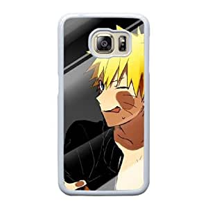 Custom made Case,Naruto Uzumaki Cell Phone Case for Samsung Galaxy S6 Edge, White Case With Touchscreen Stylus Pen Free S-7299598