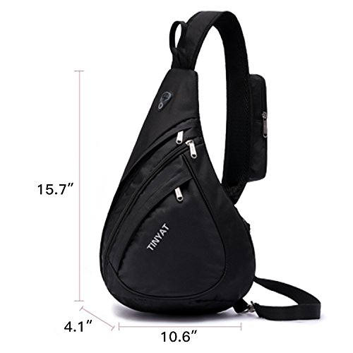 Tracolla Per A Crossbody Simplicity Travel Black Bag large Tinyat Borsa Uomini T602 Casual Donne Pack Sling Busto 0zxwPvHPq