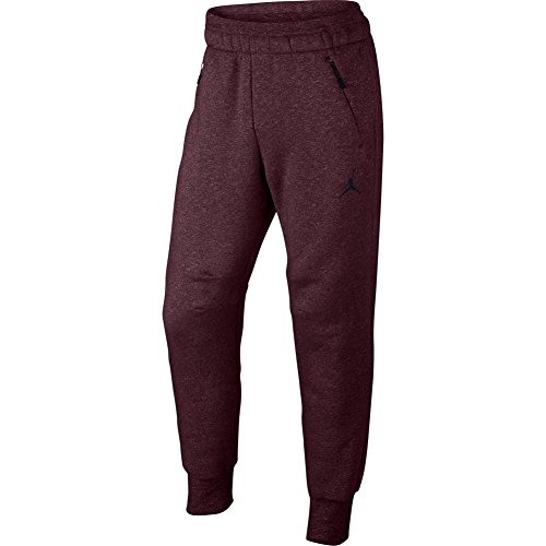 Jordan Icon Fleece Cuffed Sweatpants (M, Burgundy/Black) by Nike