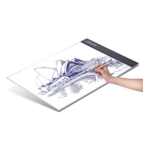 Aibecy Portable A4 LED Light Box Drawing Tracing Tracer Copy Board Table Pad Panel Copyboard with USB Cable for Artist Animation Sketching Architecture Calligraphy - Bound Lighting Glass Traditional