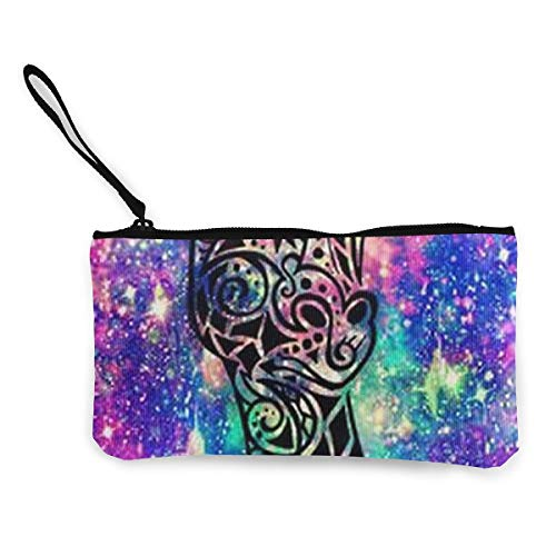 Oomato Canvas Coin Purse Giraffe Colorful Head Cosmetic Makeup Storage Wallet Clutch Purse Pencil Bag -