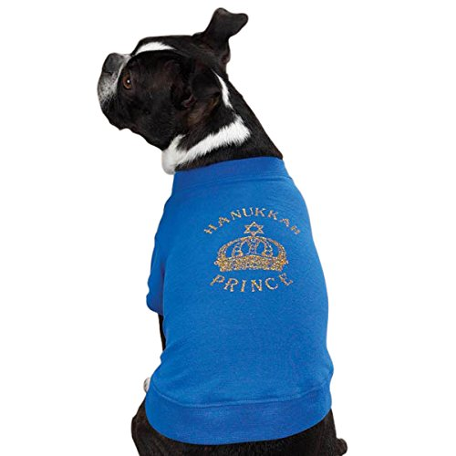 East Side Collection 8-Inch Cotton/Polyester Hanukkah Royalty Princess Dog Tee, XX-Small Hanukkah Royalty Tee