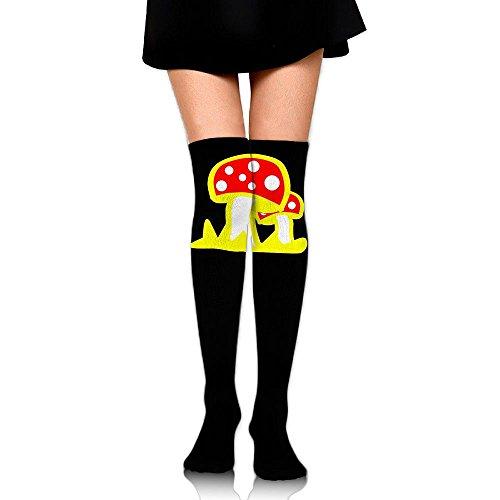 Fly Agaric Mushroom Dri-Tech Comfort Crew Socks For Women & Girls - Best For Hiking, Medical, Soccer, Football, Nursing, Travel & Flight Socks - Fly Agaric Mushroom