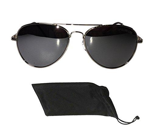 Polarized Revo Lenses Mirror Spring Hinged Men Women Unisex White Black Frame With Vintage Aviator - Police Discount Sunglasses