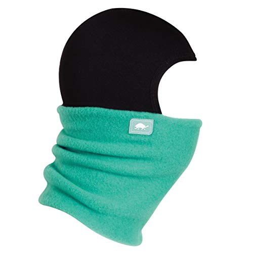 Turtle Fur Original Fleece Kids Shellaclava Balaclava with Attached Neck Warmer, Dr. Tealgood - Small (Turtle Fur Frost Mask)