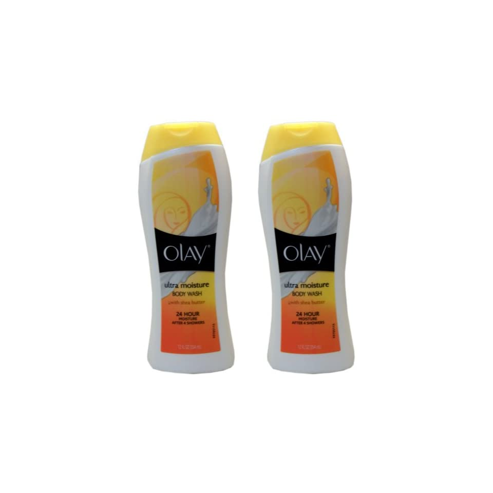 Olay Body Wash with Shea Butter, Body Ultra Moisture, 12 Ounce (2 Pack)