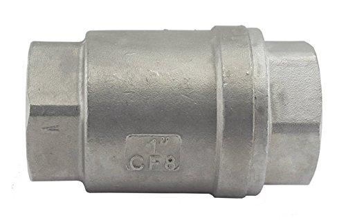 (Duda Energy VCV-WOG1000-F100 Vertical Check Valve, 304 Stainless Steel, 1