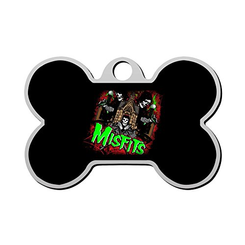 MYNF-2 Misfits Skull Logo Personalized Engraved Front & Back Dog Tags Pet ID Tags For Cat & Dog