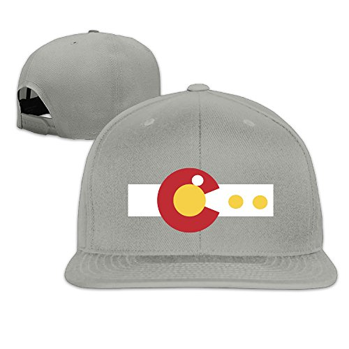 Colorado State Flag Pac Dots Fitted Flat Brim Baseball -