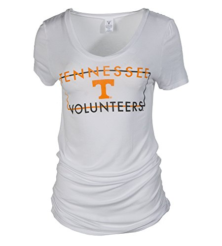 (Official NCAA University of Tennessee Volunteers, Knoxville Vols UT UTK Vintage Pilled V Neck T-Shirt )