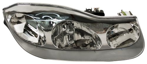OE Replacement Saturn S-Series Passenger Side Headlight Assembly Composite (Partslink Number GM2503216)