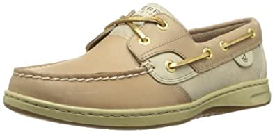 Sperry Top-Sider Women's Bluefish Suede Boat Shoe,Linen/Gold,10 M US