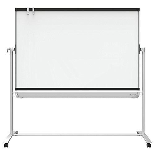Quartet Presentation Easel, 6' x 4', Mobile, Reversible Magnetic Whiteboard / Flipchart, Prestige 2 Mobile, Graphite Frame (ECM64P2) by Quartet