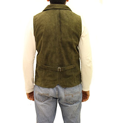 Gilet Vert Olive Daim Blazer Style Blazer Boutons Long Classique Avec Élégant Cinq En Couleur rqOr7