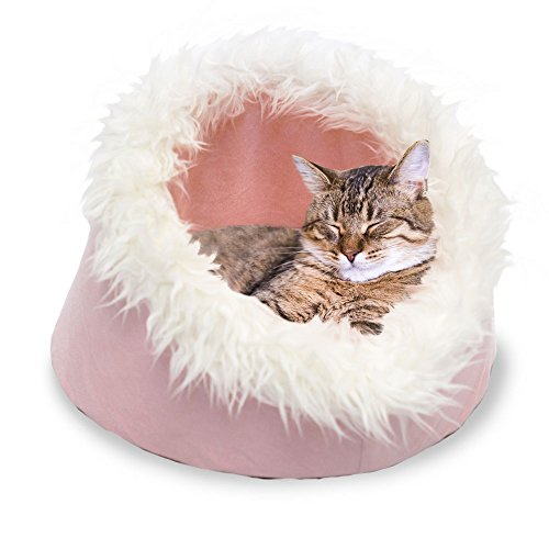Furhaven Pet Cat Cave, Blush Pink, 18